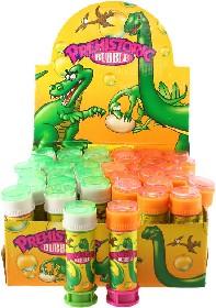 Bublifuk s hrkávkou dinosaurus 50ml dětský bublifukovač plast